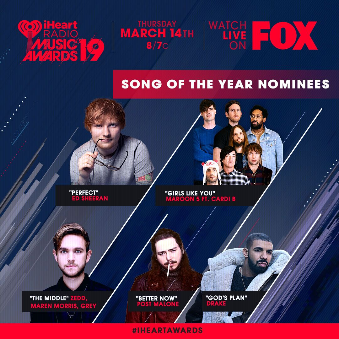 Have you voted for #songoftheyear yet at our #Iheartawards?! Vote now! https://t.co/gamMqqc5vx https://t.co/nfwAJsv3IC