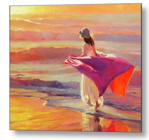 Take time to dream and daydream today . . . Catching the Breeze, metal art print from Steve Henderson Collections -- http://bit.ly/2MSsoAL #ocean #sunset #sea #beach #coast #coastaldecor #coastalart #dream #daydream