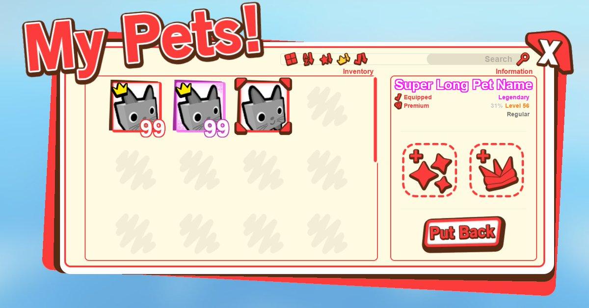 Big Games On Twitter Sneak Peek Of The Pet Simulator 2 Interface