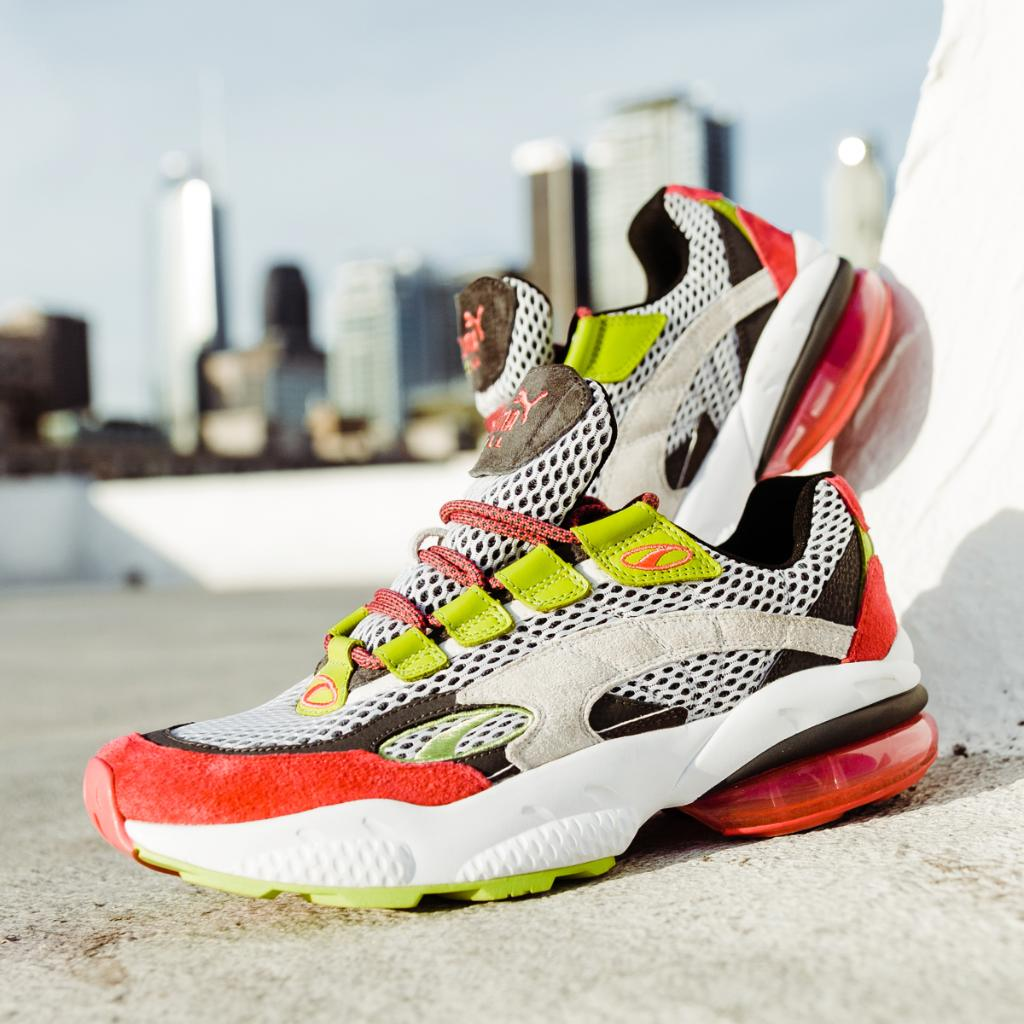 b1014f2bb92  Puma CELL Venom Fresh Mix. Straight from the  90s. Launching 2 12 at Foot  Locker. pic.twitter.com zeYijQJfg6