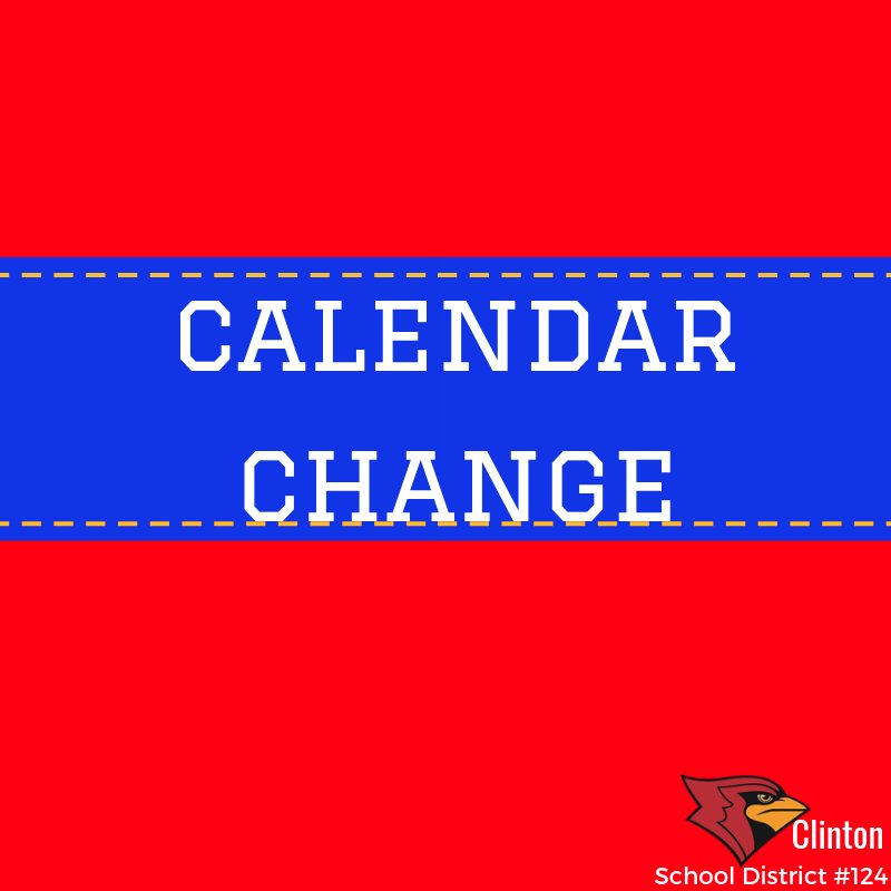 CALENDAR CHANGE CSD schools will be in session on Fri, Feb 15 as the first of several snow-make up days (Feb 15 was originally staff professional development). More info this week re: additional make-up days. @HenryElementary @CIScards345 @CMSCardinals @CHSCards @ClintonTechSch