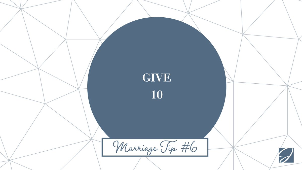 Marriage Tip #6: Give your spouse your undivided attention at least 10 minutes a day. Don't talk about work, kids, bills or your latest tweet :). #MarriageTip  #Give10