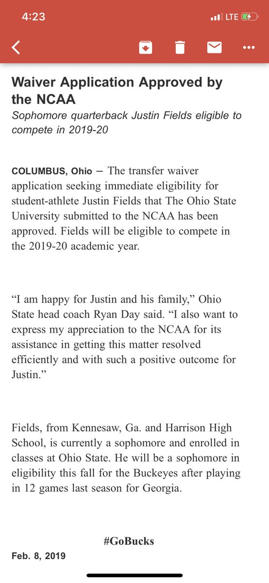 Justin Fields Has Been Granted Immediate Eligibility To Play For Ohio State In 2019
