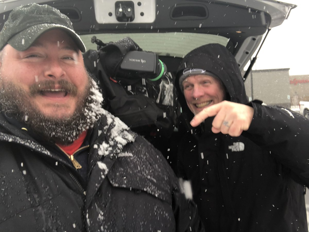 .@MlecuyerQ13FOX staying dry while #Snowbeard2019 makes its debut #Q13FOX