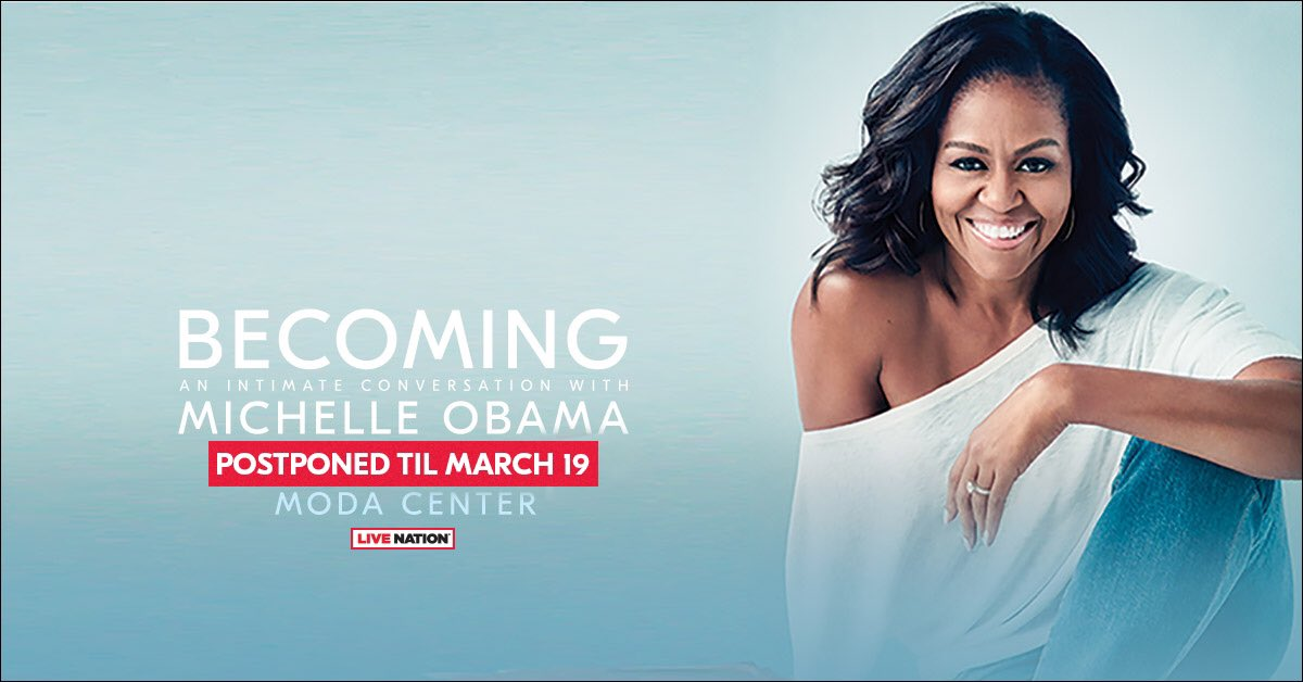 Live Nation and Crown Publishing announce Becoming: An Intimate Conversation with Michelle Obama scheduled for Saturday, February 9 will be postponed to Tuesday, March 19.  More info » https://roseq.co/2QoJJrF