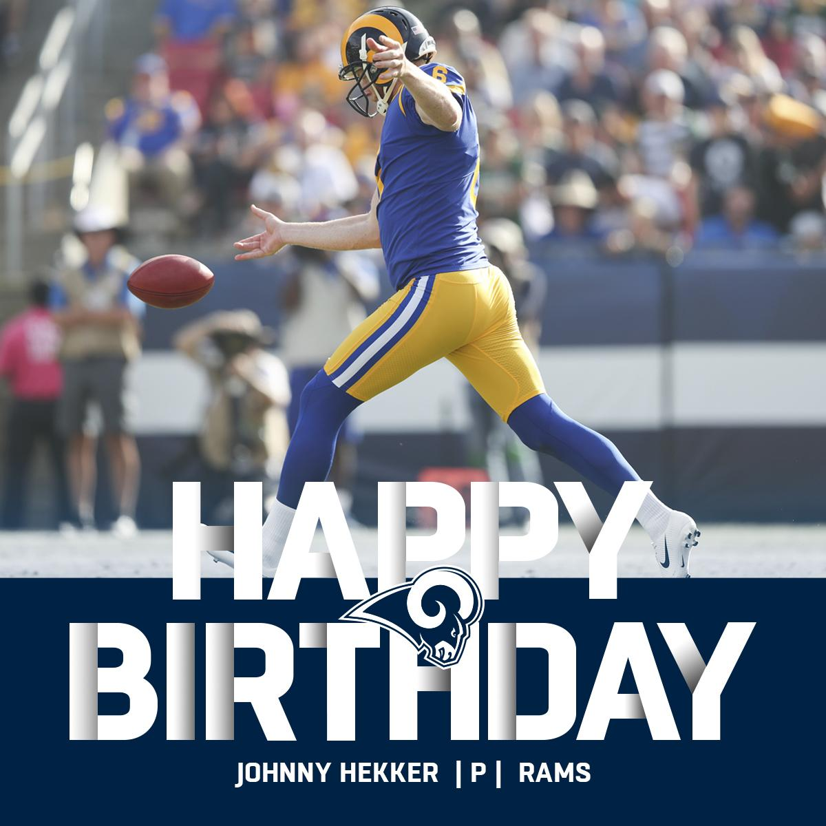 One of the greatest punters... ever.  HAPPY BIRTHDAY, 4x @RamsNFL Pro Bowler @JHekker! ���� https://t.co/EiOSu74vQj