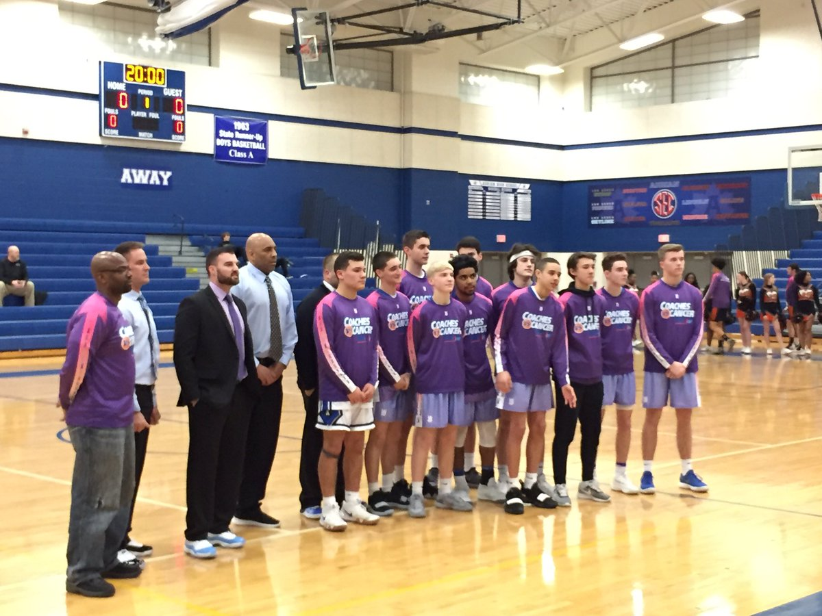 Coaches vs. Cancer game for V BBB!  Thank you Sam Lofton Agency for sponsoring this event!  #GoMaples