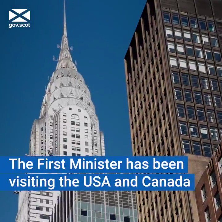 🇺🇸🇨🇦 Last week, the First Minister visited North America to strengthen trade and cultural links with the USA and Canada.   Find out more about her visit ➡️ http://bit.ly/firstministernews…
