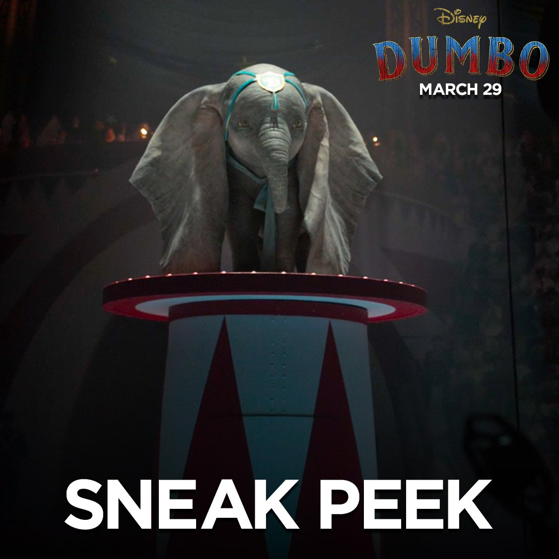 A showstopper you have to see to believe. Watch a brand new sneak peek of #Dumbo, and see the film in theatres March 29.