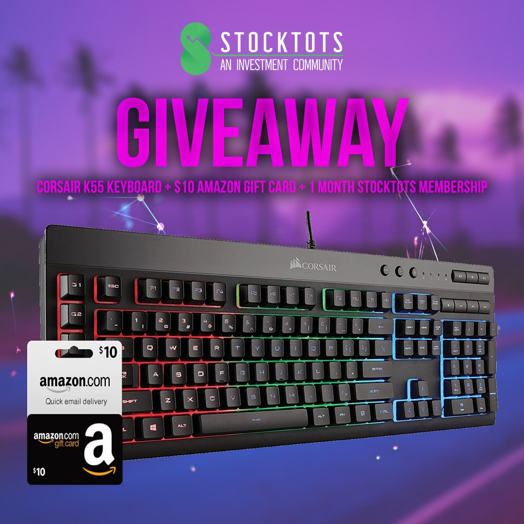 Check out this Valentine&#39;s Day Giveaway!   Corsair K55 Keyboard  $10 Amazon Gift Card  1 Month StockTots Membership   Tag A Friend  Turn Notifications On  Retweet, Like &amp; Follow  Ends on 2/14  Good Luck Everyone! <br>http://pic.twitter.com/qFEOLUvdXI