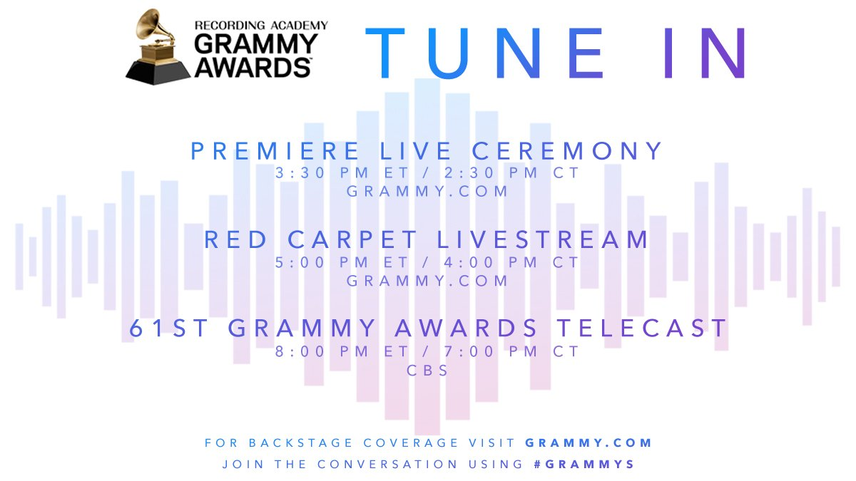 Looking to stay connected on ALL things #GRAMMYs this Sunday? We have you covered: https://t.co/iPjts7Ro13 https://t.co/CJxixQ8yAm