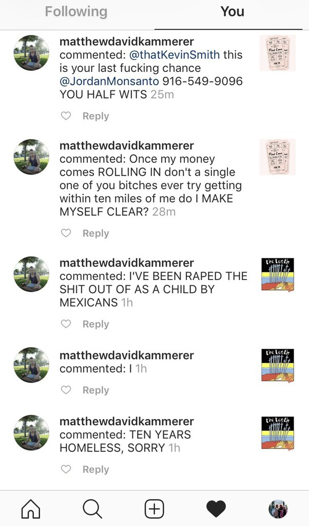 Dear @LAPDHollywood - This man has stalked my 19 yr old daughter online. She went in to the PD and filed a complaint weeks ago. Today he posted an Instagram video from a corner that's frighteningly close to where we live: https://t.co/5vLIYJ9Fl1 Spooky stuff. What do we do now?