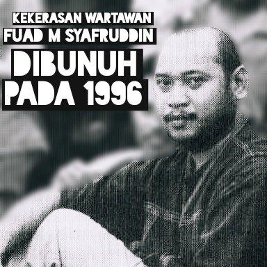 Masih ingat kasus pembunuhan Fuad Muhammad Syafruddin alias wartawan Udin? Wartawan Bernas, Yogyakarta, yang dianiaya oleh orang tidak dikenal, dan kemudian meninggal dunia. 23 Tahun kasusnya tidak terungkap. #HariPrabangsaNasional