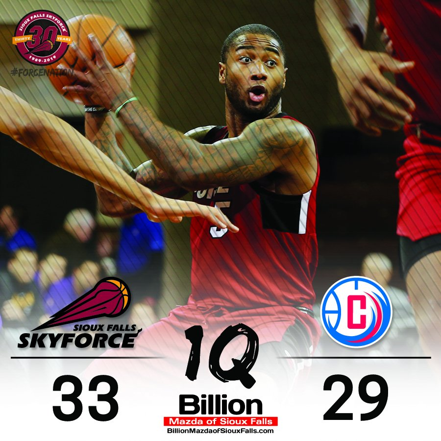END 1ST | Force hold a four point lead after the first period.   Rodney Purvis (7 points, 3 rebounds) leads the way, while Emanuel Terry has six points and two steals. <br>http://pic.twitter.com/gNr5cr2og3