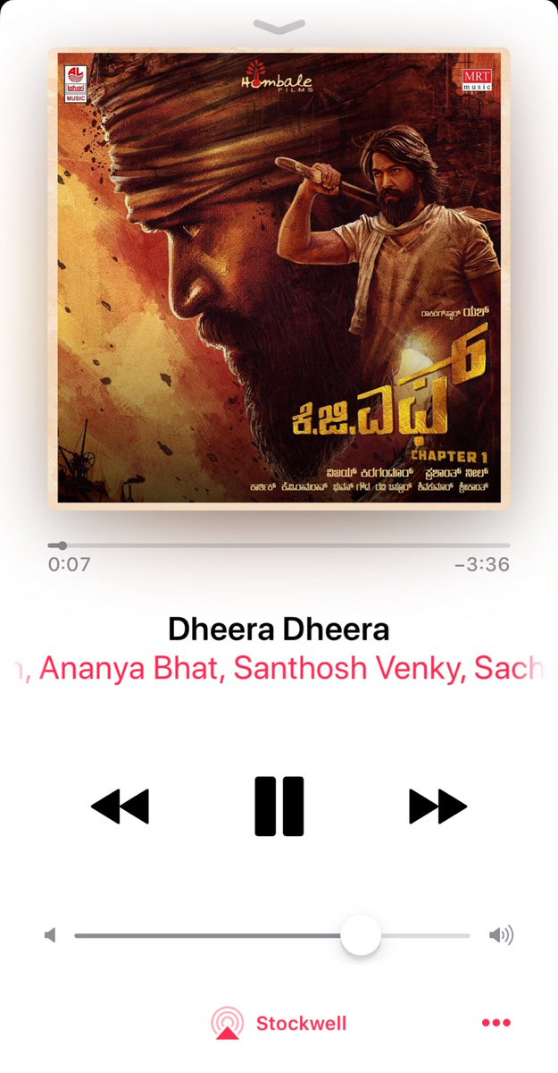 I know I'm late to the party but finally got to watch KGF chapter1 (kannada). So so cool. Congrats @TheNameIsYash and Prashanth Neel....Dheera Dheera Dheera hi Sulatana.....💥💥💥💥love this track  as well 👊👊