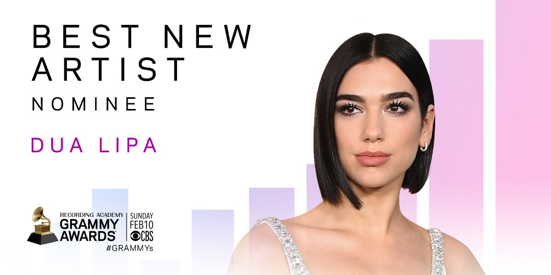 Stepping on the #GRAMMYs stage this Sunday is @DUALIPA, who is nominated for Best New Artist! https://t.co/AB8Tbx2fcG