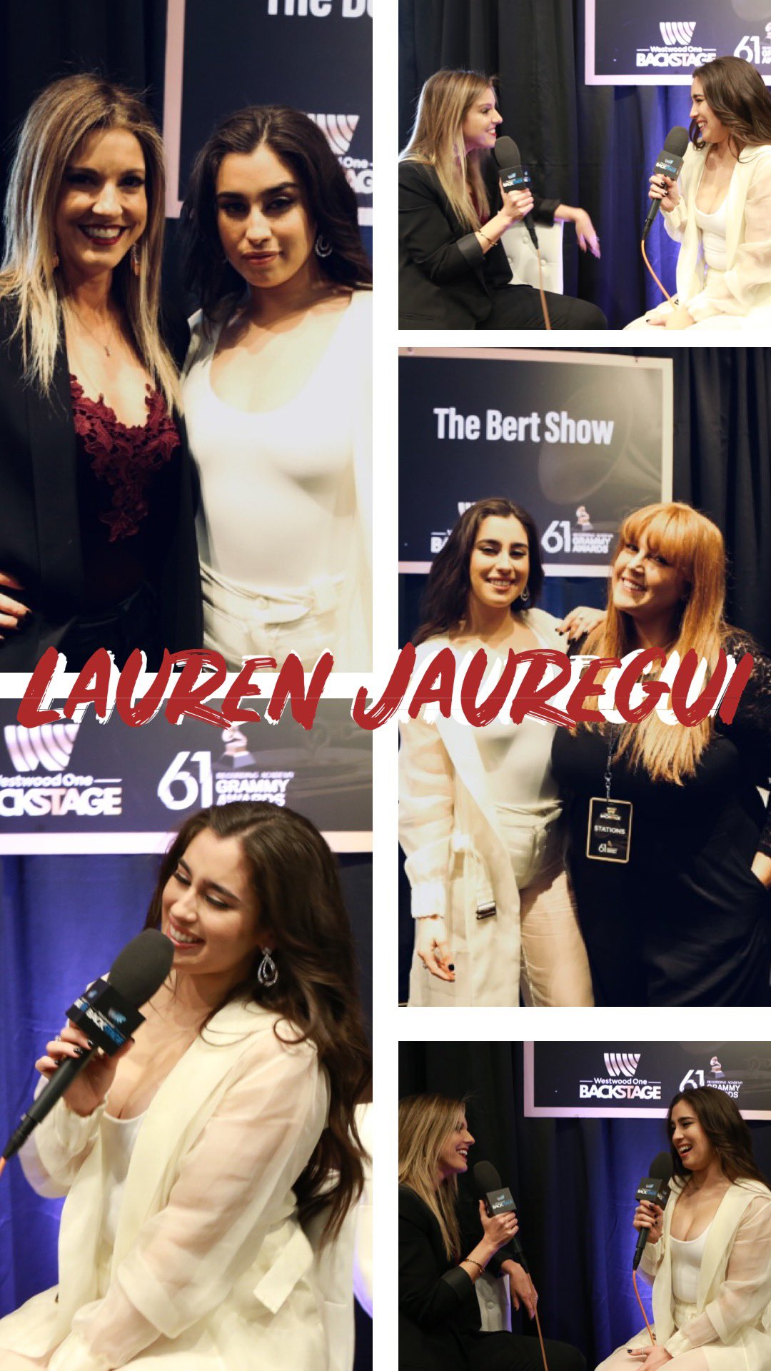 Thanks for the awesome interview, @LaurenJauregui! https://t.co/KAB01aWBr1 #GRAMMYs   #WestwoodOne https://t.co/sLDCkSkpF2