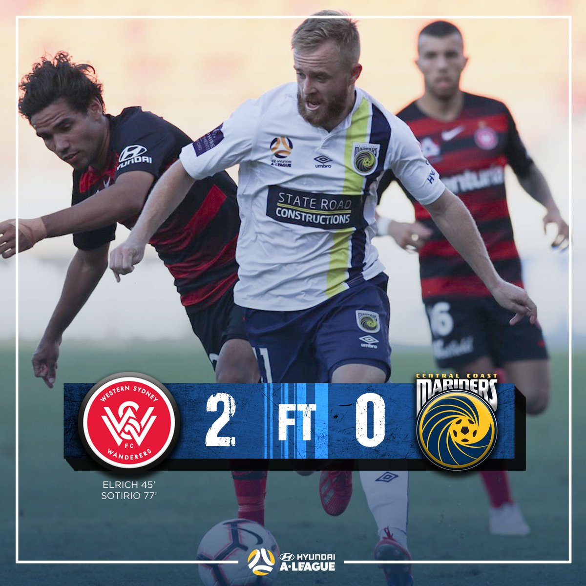 Full-time. A tough afternoon in Western Sydney. #WSWvCCM #CCMFC #ALeague