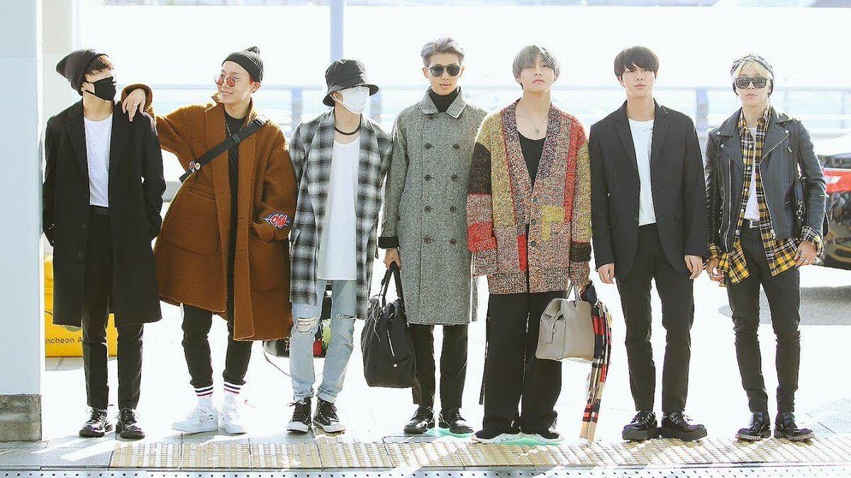 BTS America Airport Fashion   2017 - AMAs  2017- BBMAS : Top Social Artist  2018- BBMAs Performer 2019 - #Grammys  Presenters<br>http://pic.twitter.com/2FF4jTmOA4