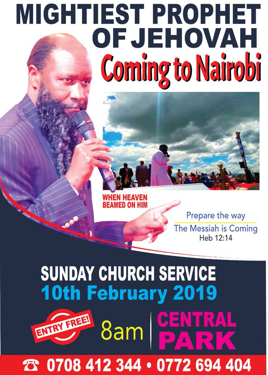 I have heard many people asking when will be The Man of GOD the Servant of JEHOVAH YAHWEH be coming again. Now, you are all welcome tomorrow. THE ENTRY WILL BE ABSOLUTELY FREE. #ProphetDrOwuoratCentralPark
