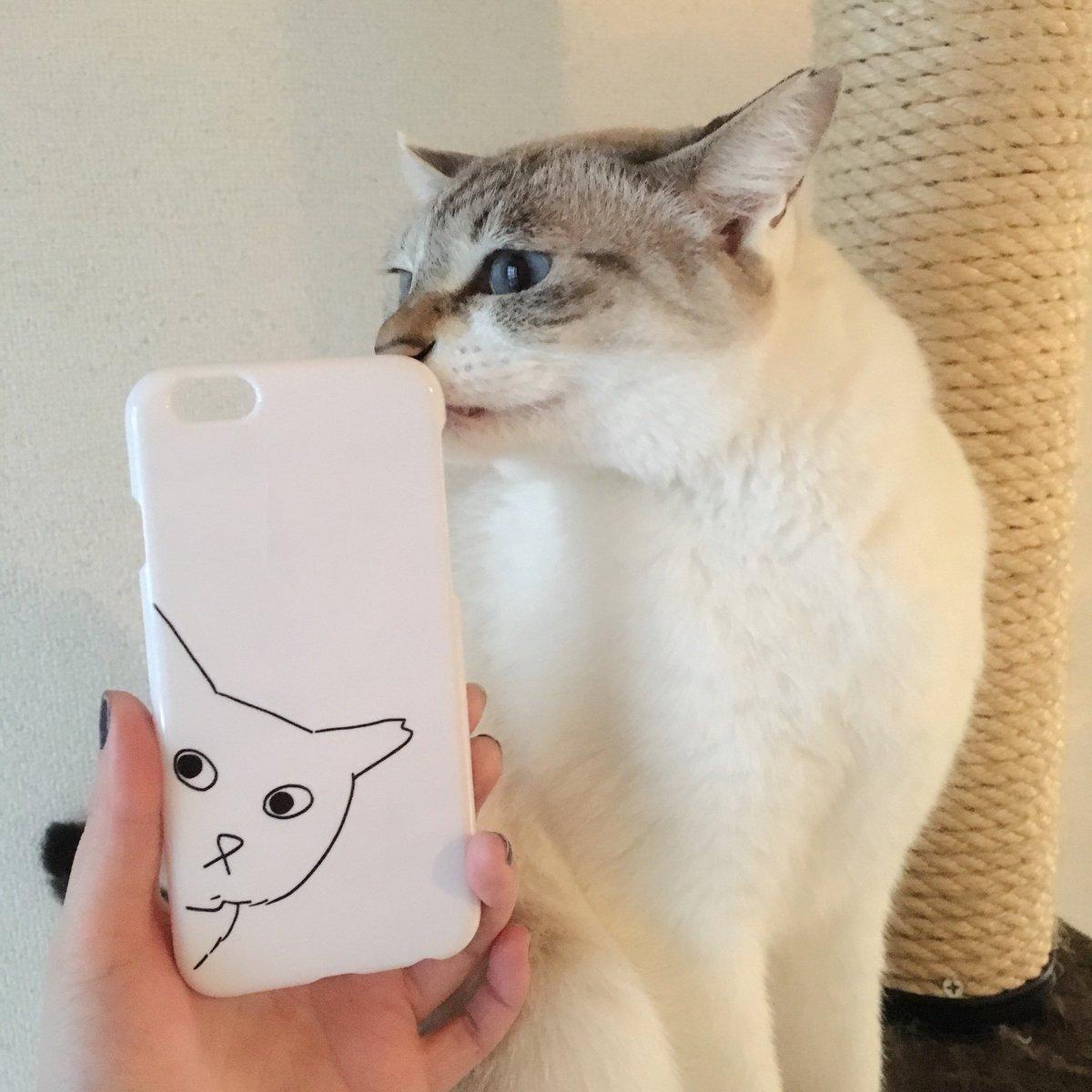 つくった I made my smartphone case with the drawing by @poorlycatdraw ! twitter.com/n_kana/status/…