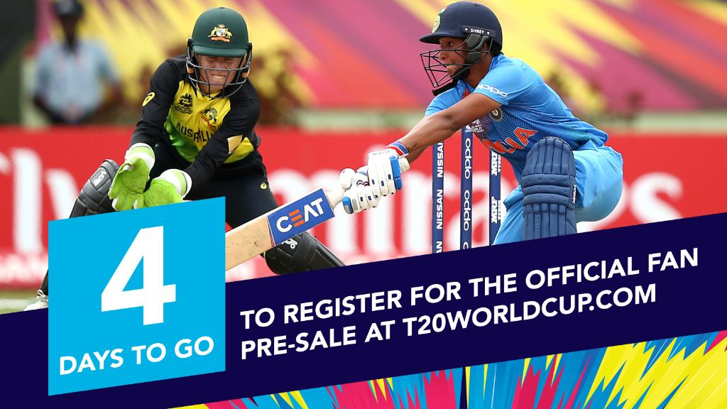 That's 4⃣ for Kaur!  Get early access for tickets to the opening match between Australia and India at http://www.T20WorldCup.com