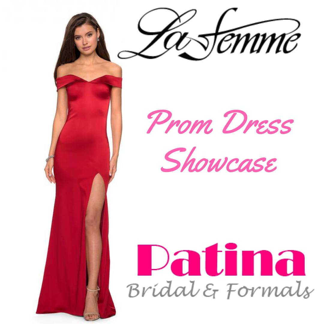 3e5e4aa7b4f18 Visit Patina to find the dress of your dreams! We have La Femme gowns and  much more! #Prom2019 #PatinaProm #TriadFormals #GreensboroProm ...