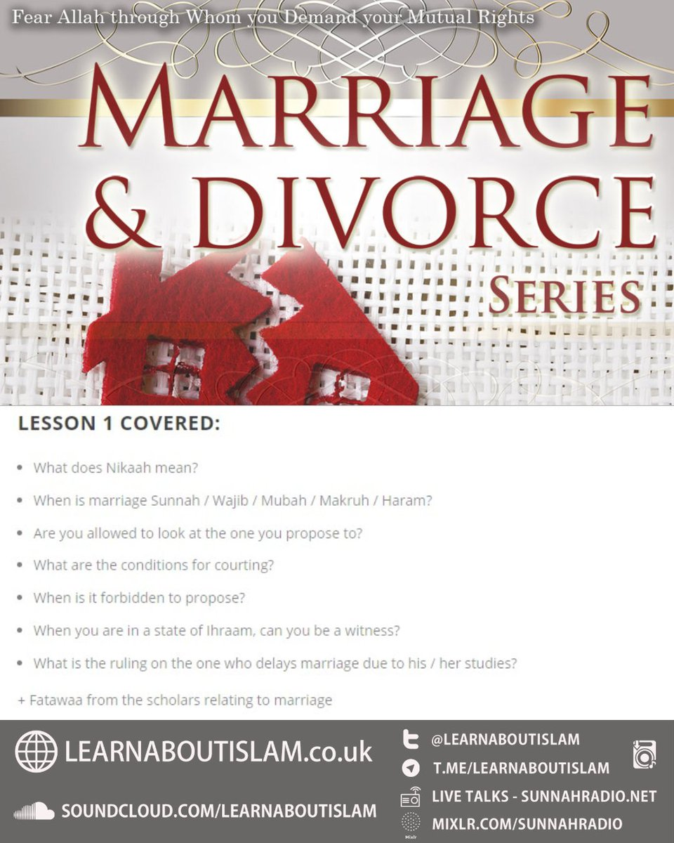 conditions of marriage in islam