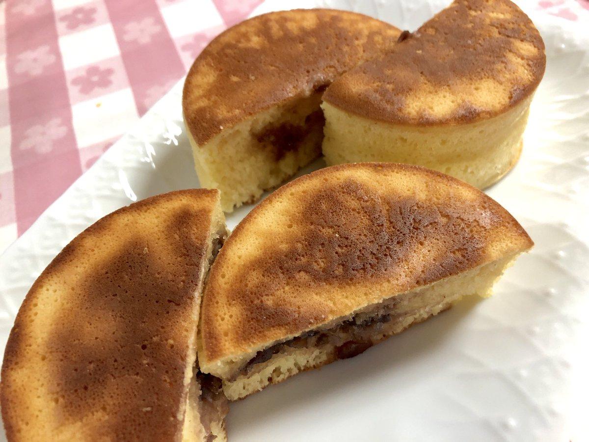 test ツイッターメディア - この間買ってきた「ふんわり厚焼きホットケーキ型」で粒あん入りの回転焼きにチャレンジ! 少し焦げたけど、ふっくら焼けました\(^o^)/  生地は #ホットケーキミックス に卵、牛乳、みりん、サラダ油を混ぜてしっとりモチモチ #スイーツ  #セリア https://t.co/hF9327mfhA