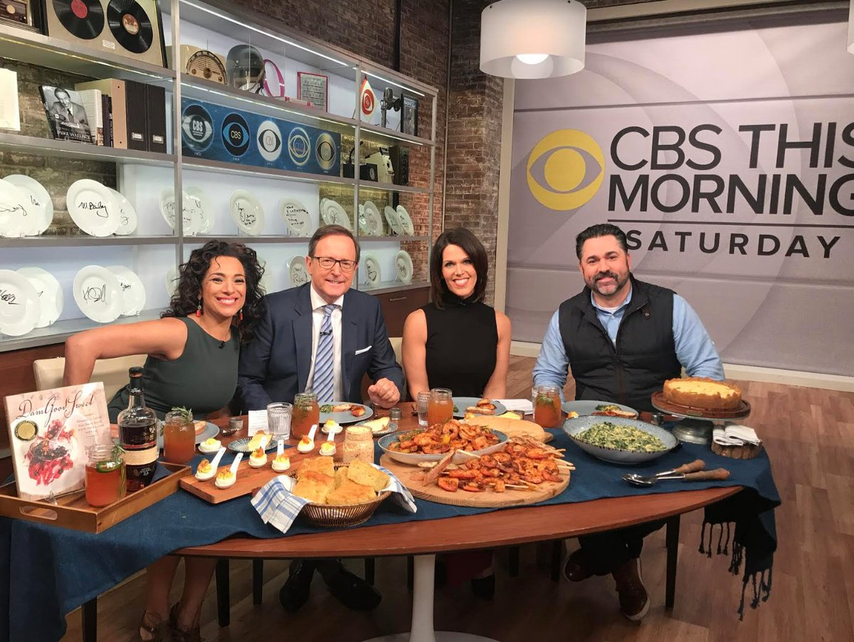 Today's the day: @ChefDavidGuas will be on @CBSThisMorning starting at 8:30AM EST! Guas gives the inside scoop about some of his most authentic #NOLA dishes like his beloved gulf shrimp & deviled eggs. Channel your inner Southern-self and don't miss out on this morning special! https://t.co/z87xAiPnHQ