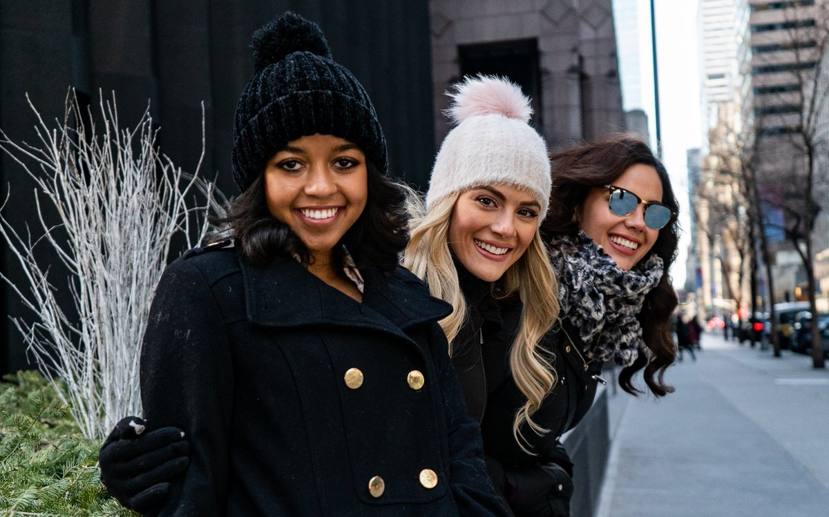 Exploring the city! ❤️ #MissTeenUSA @HaileyColborn, #MissUSA @SarahR_Summers, and @MissUniverse @CatrionaElisa taking on New York City together.
