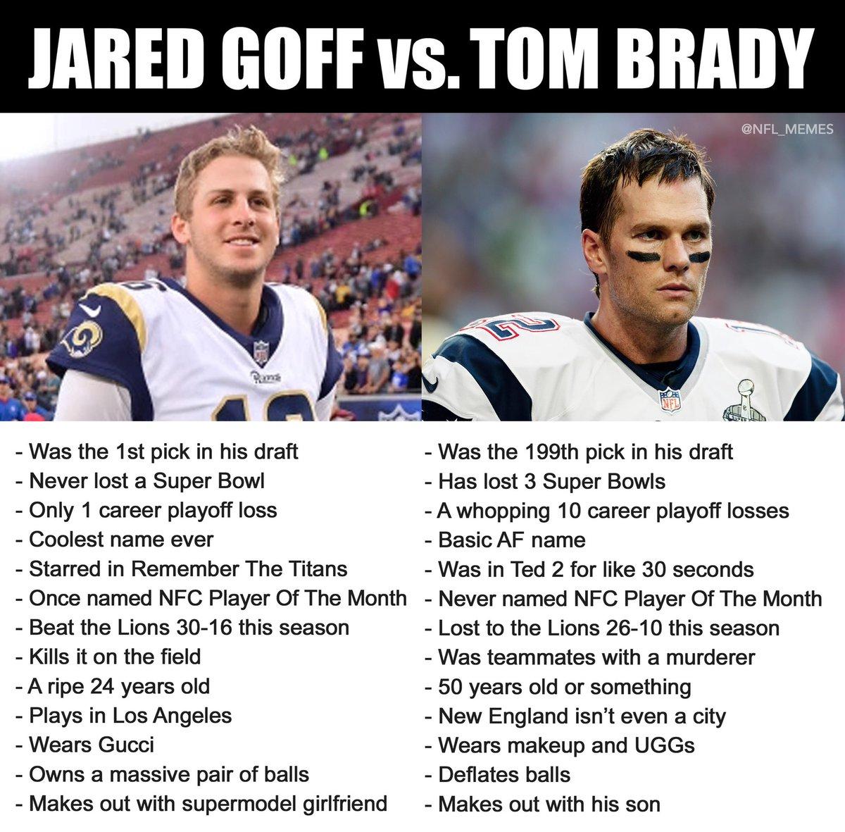 Nfl Memes On Twitter Your Super Bowl Liii Qb Matchup