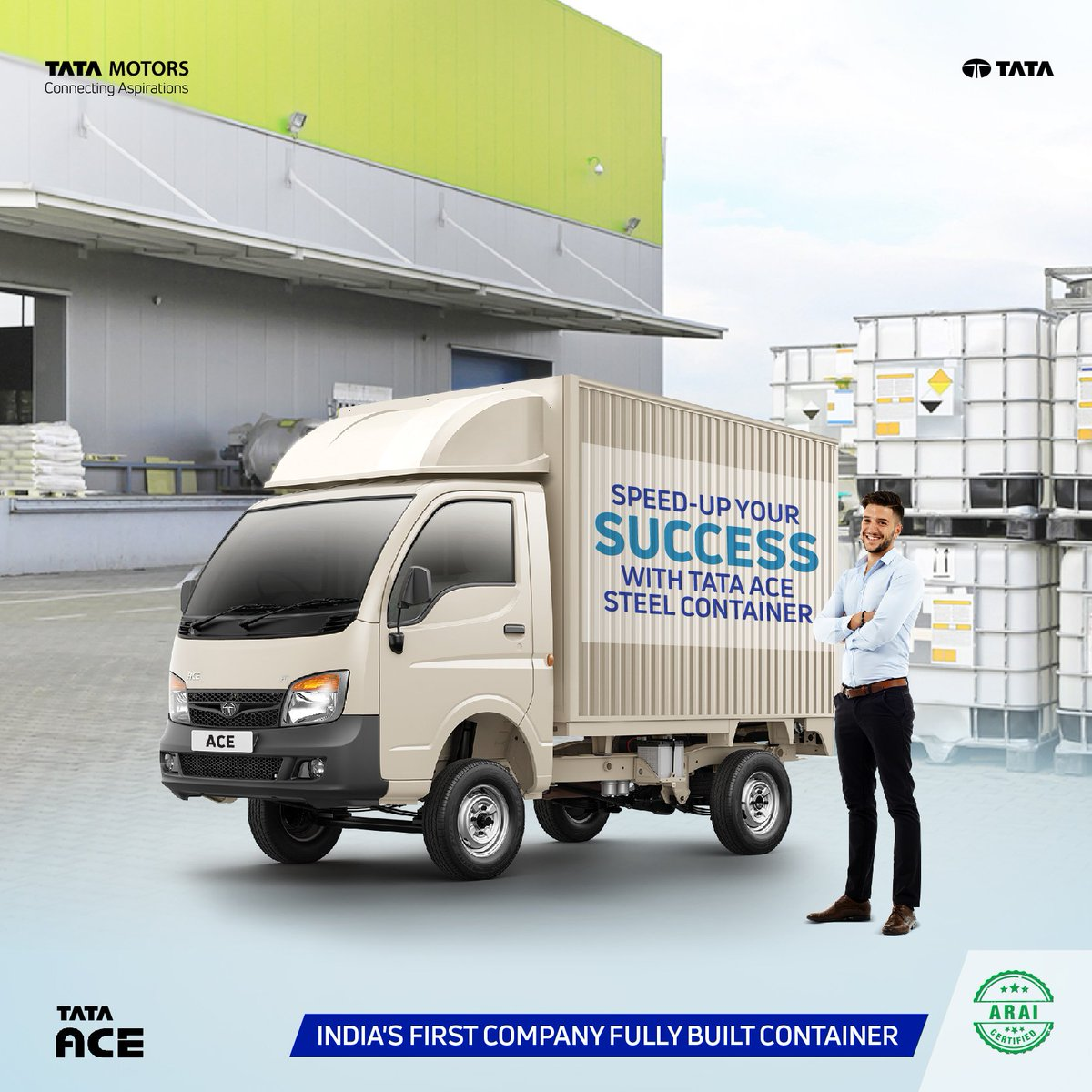 """Tata Motors ar Twitter: """"Tata Ace Steel Container is India's"""