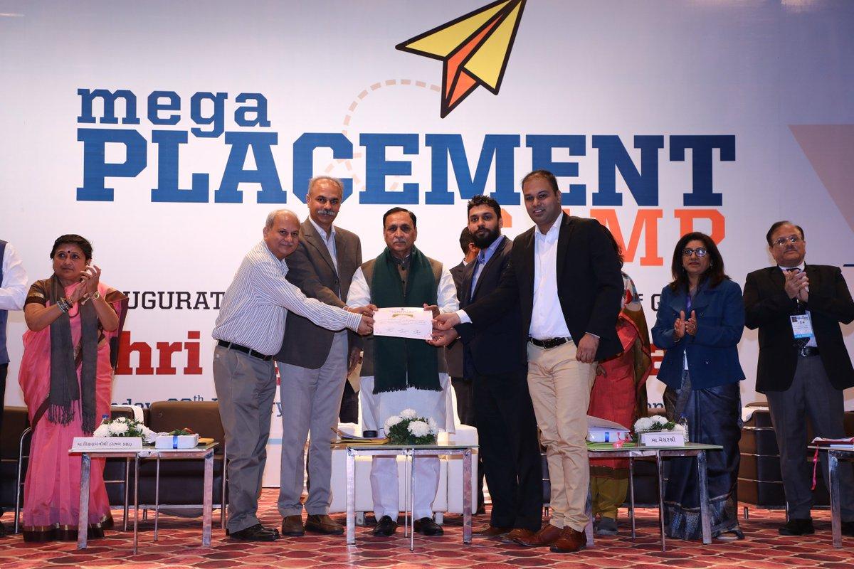મેગા પ્લેસમેન્ટ ફેર થી ગુજરાતમાં ''હર હાથ કો કામ''નો મંત્ર પાર પાડવો છે:રૂપાણી