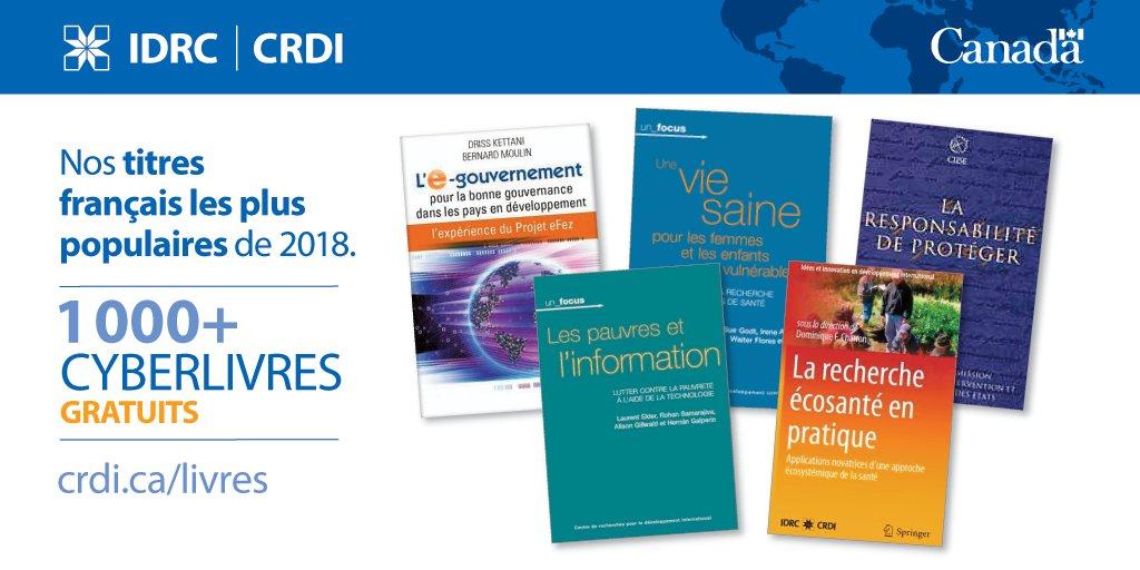 Idrc Crdi On Twitter Nos 5 Meilleurs Livres En Francais