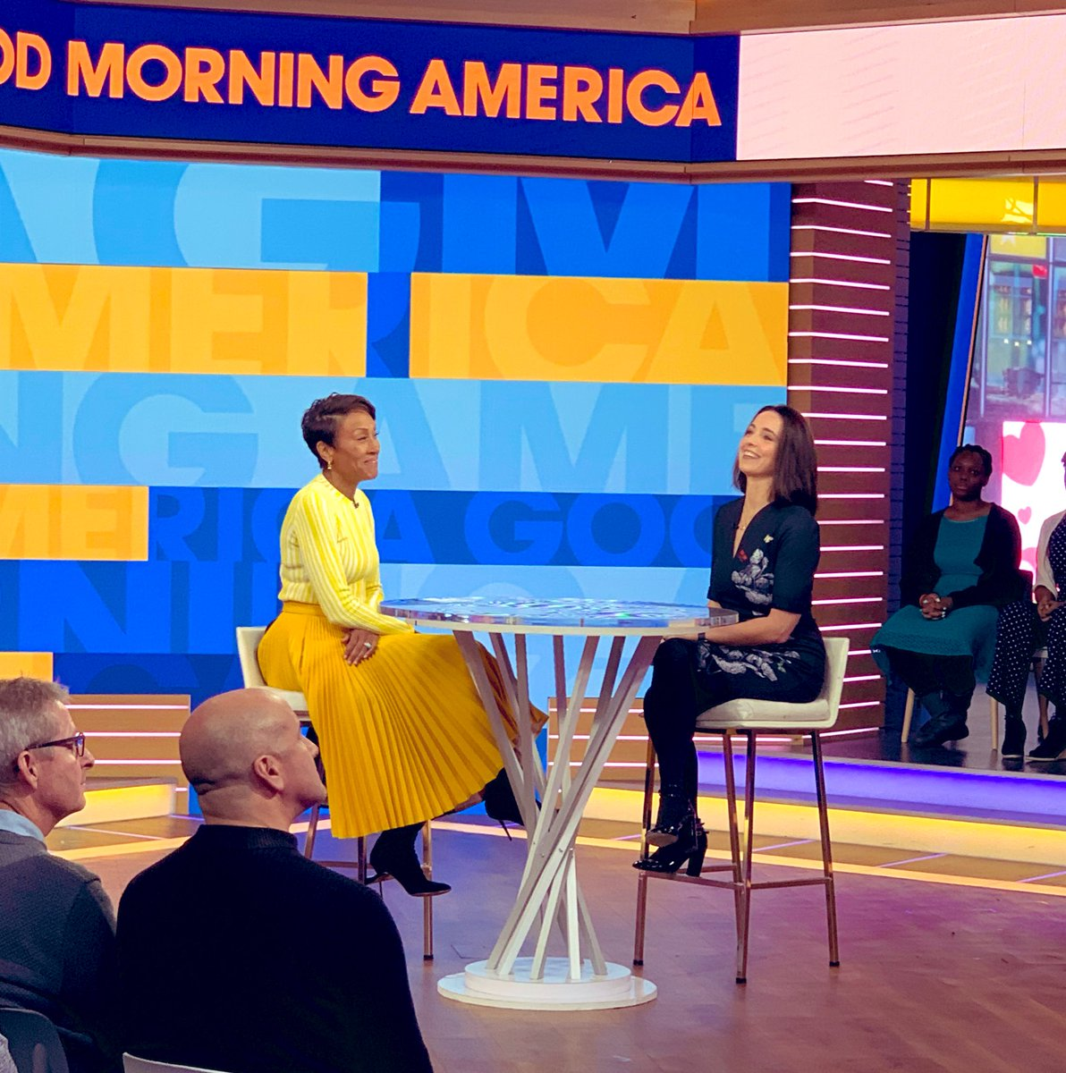 We've got a case of the Mondays, and we are OK with that.   Nextdoor's Chief Neighbor @thefriley sat down with @RobinRoberts on @GMA this morning to discuss the global power of local, and how Nextdoor is strengthening community. – at Good Morning America Studios