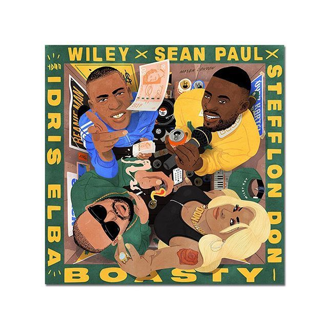 "Idris Elba ""Boasty"" (remix)  wiley    Wiley  duttypaul  SeanPaul   stefflondon  StefflonDon  idriselba  IdrisElba  toddlat  ToddlaT   muckybeats  Mucky  BMG ... 9fef7661e93"