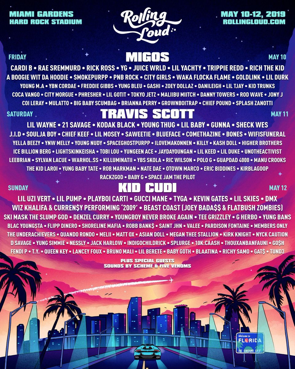 Rolling Loud On Twitter Rolling Loud Miami 2019 On Sale Feb 1 10am Est Https T Co 2fchs28f9w