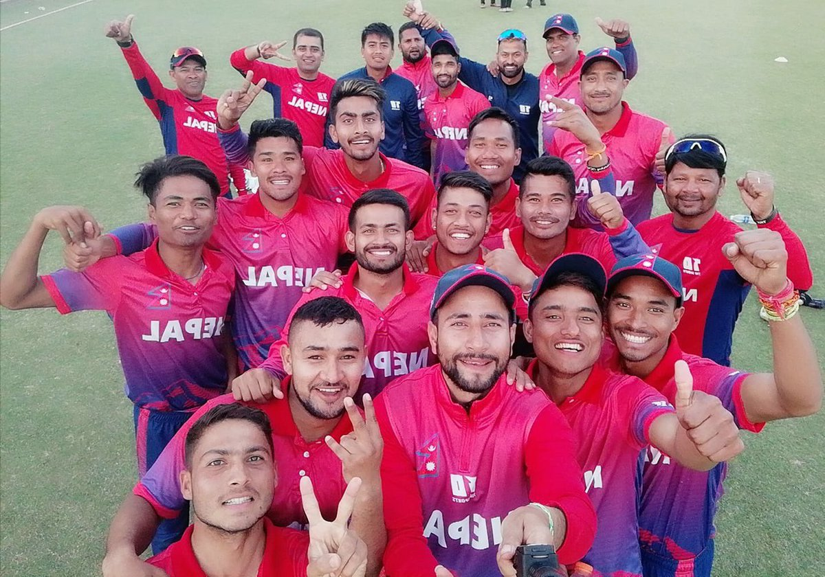 Our first ODI series win..Amazing team effort,spirit and commitment from the boys and the management..!! Thank you everyone for the blessings,support and gratitude.. Jai Nepal..!!!!