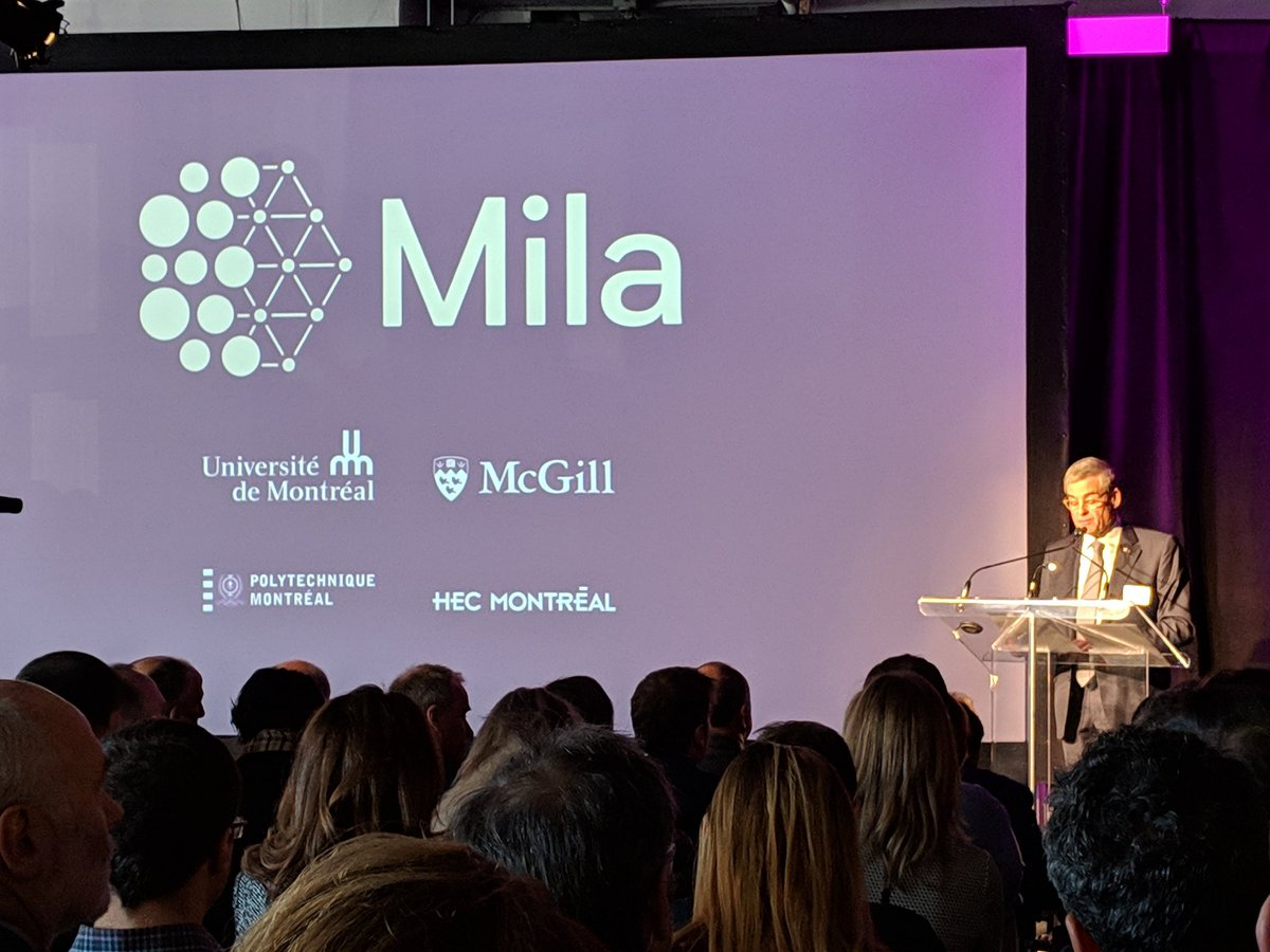 This is a game changer for Montreal and for the world AI ecosystem. Excited to be at the official launch of the @MILAMontreal Congrats to everyone involved in building this incredible organization.