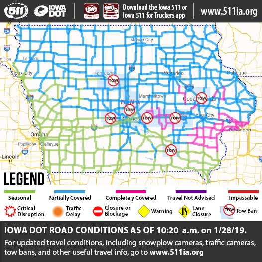 Iowa Dot On Twitter Wapello County Has Been Added To The List Of
