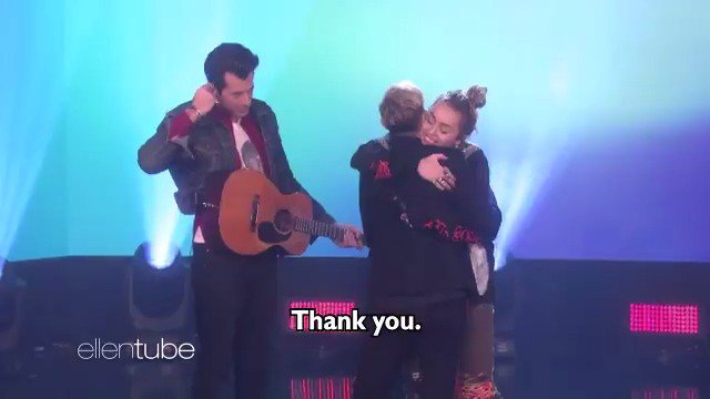 I love this song so much. Thank you, @MileyCyrus and @MarkRonson, for being here for my birthday. https://t.co/gYB7LagcK9