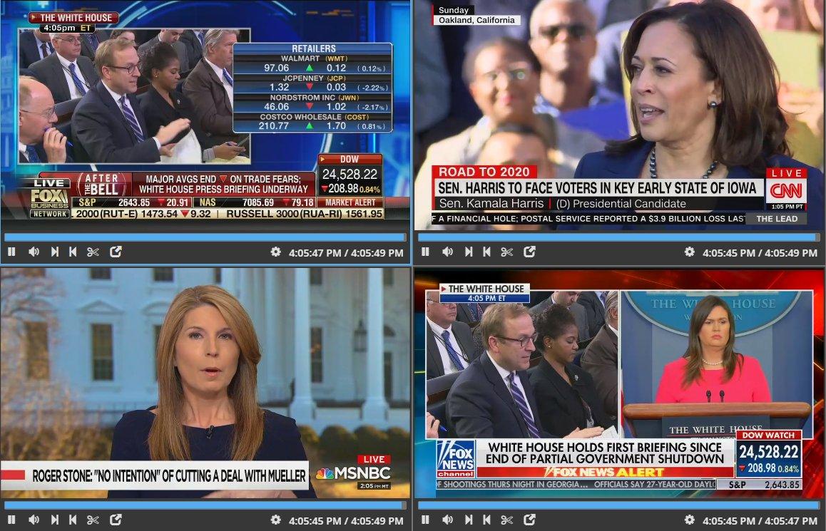 Sarah Sanders takes podium Fox News Fox Business live