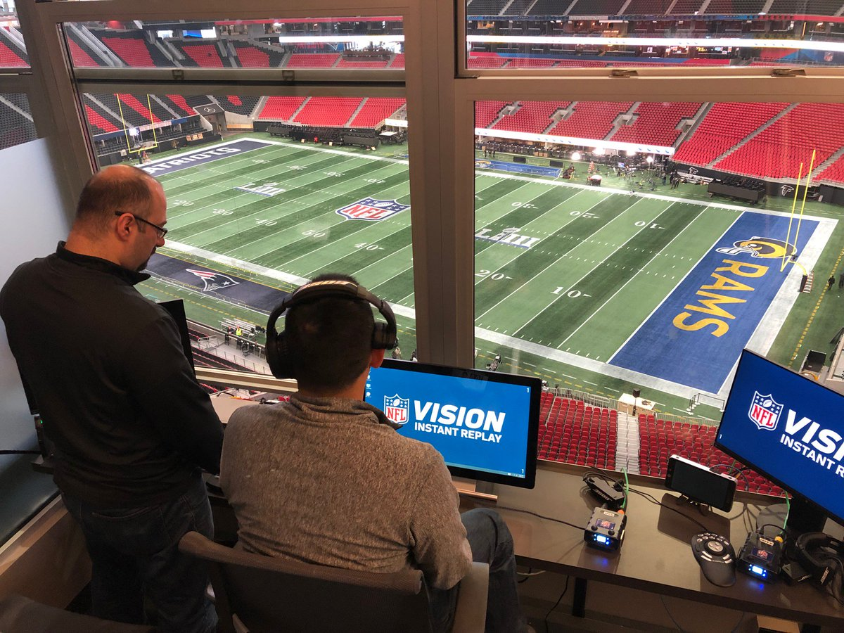 We're here in Atlanta setting up to make Mercedes-Benz Stadium Super Bowl Central. #SBLIII