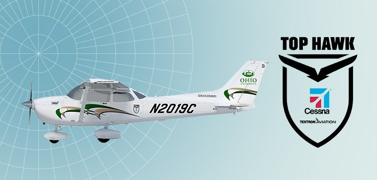.@TextronAviation named Ohio University's Department of Aviation as a 2019 Top Hawk school! We'll receive the use of a custom-branded Top Hawk @Cessna 172 for the year. https://www.ohio.edu/engineering/aviation/news-story.cfm?newsItem=9FE0B6BE-5056-A874-1D78A75920839871… #flightschool