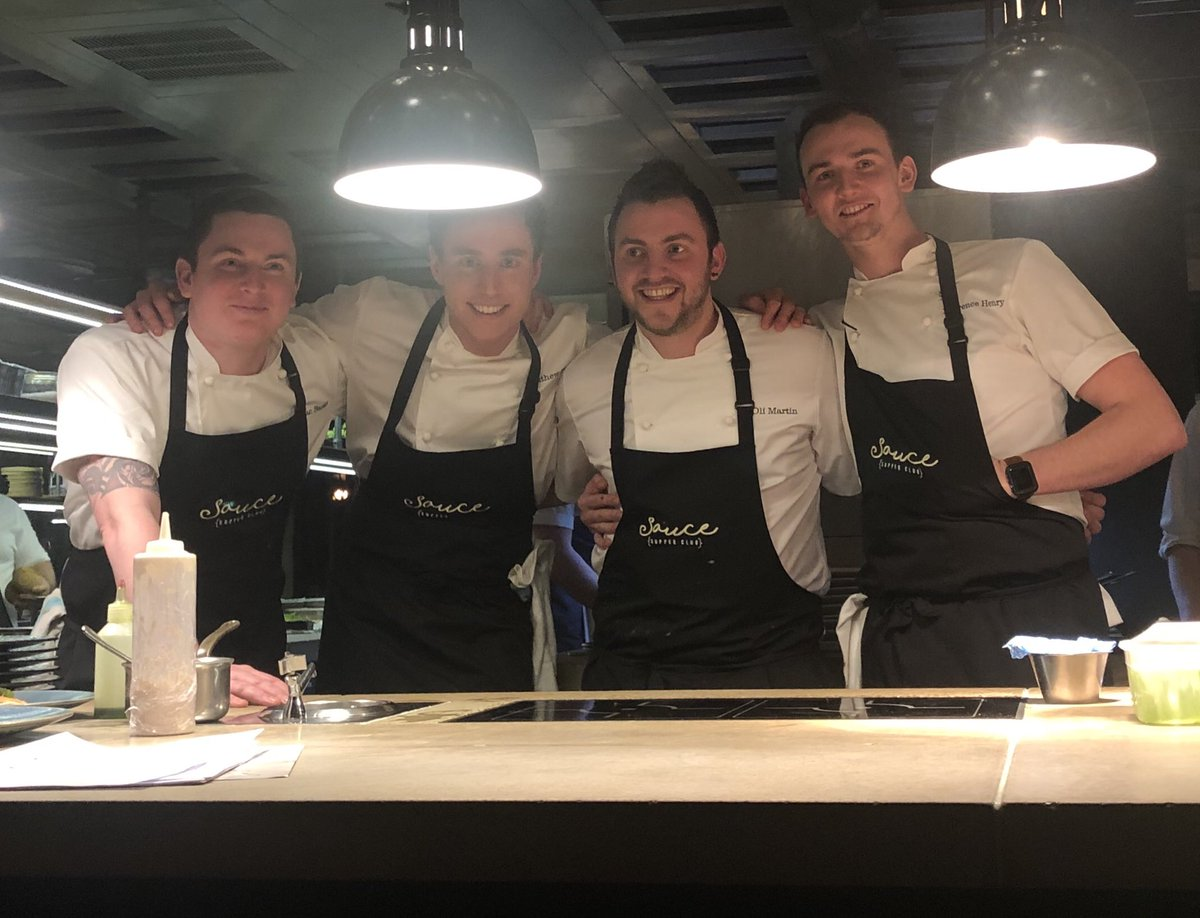 Thank you @Chef_OliMartin @banks_chef @chef_laurence & Matt for an amazing evening @restaurantMCR , you are 4 amazingly talented chefs @saucesupperclub