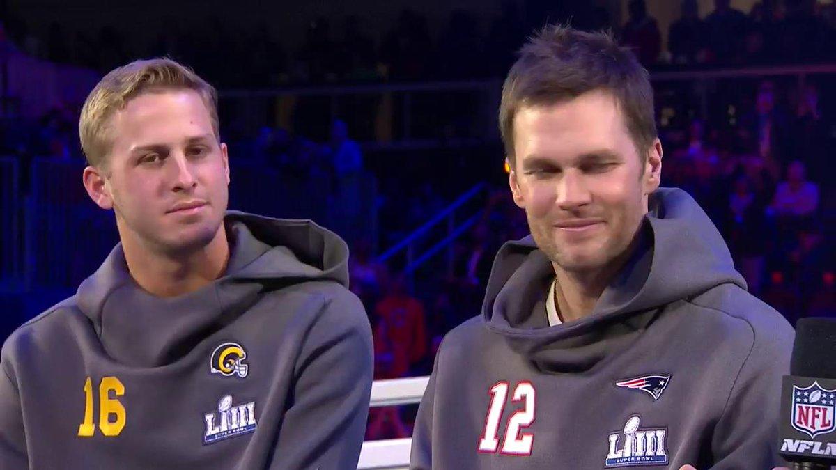 """I'm not giving him any advice."" 😂 #SBLIII  📺: #SBOpeningNight on @NFLNetwork"