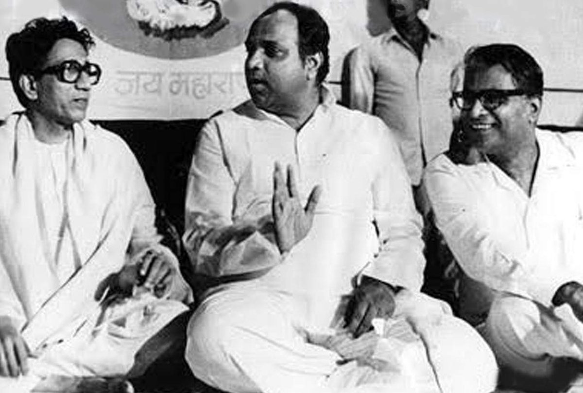 With Bal Thackeray and Sharad Pawar. Image: Facebook/George Fernandes