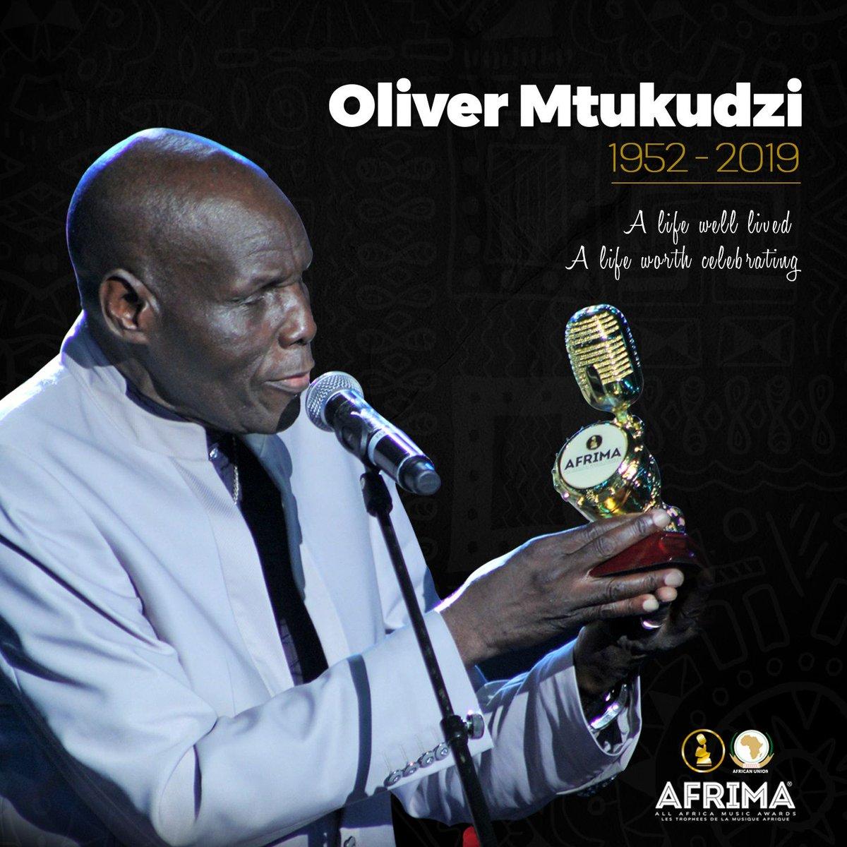 Oliver Mtukudzi 1952 - 2019