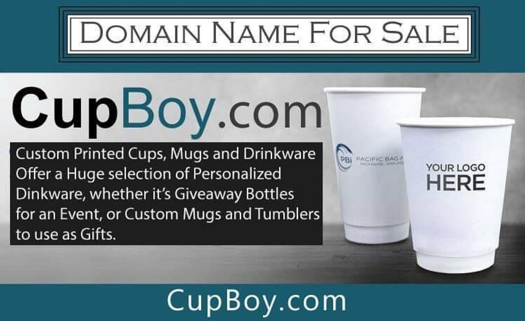 Domain Name for Sale CupBoy.[com] #Brandable name #printing #design start up! #cupdesign #coffee #startup  #cupprinting  #screenprint #DomainNameForSale #personalized #dropship #domain #mockups #photoshop #Shopify #packagedesign #GraphicDesign #mugprinting #AffiliateMarketing